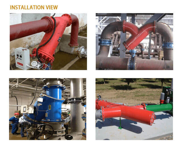 EY Self-cleaning filter field application installation