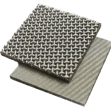 Plain sintered square weave mesh