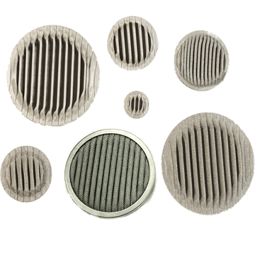 Metal pleated filter disc