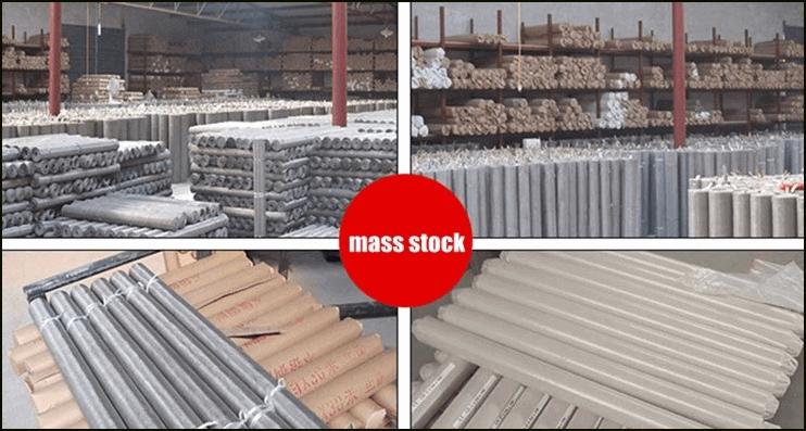 Stock stainless steel woven mesh