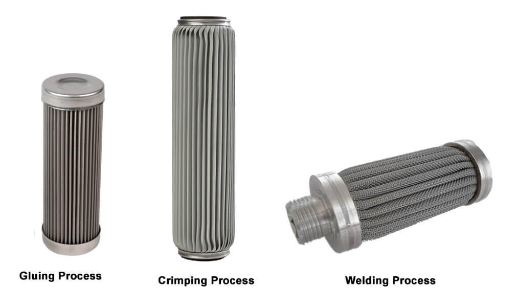 stainless steel mesh filter cartridge