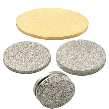 sintered powder filter discs