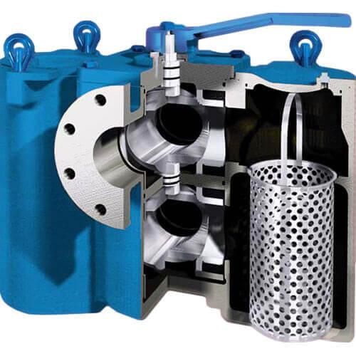 Manual pipeline | Strainer | Industrial Water debris | Saifilter