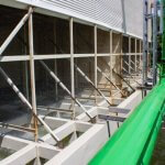 Cooling tower pool cleaning