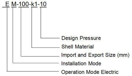 EM series self-cleaning filter model 1