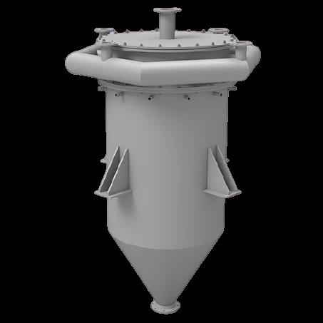hot gas filter system
