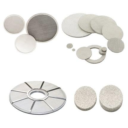 Metal filter disc